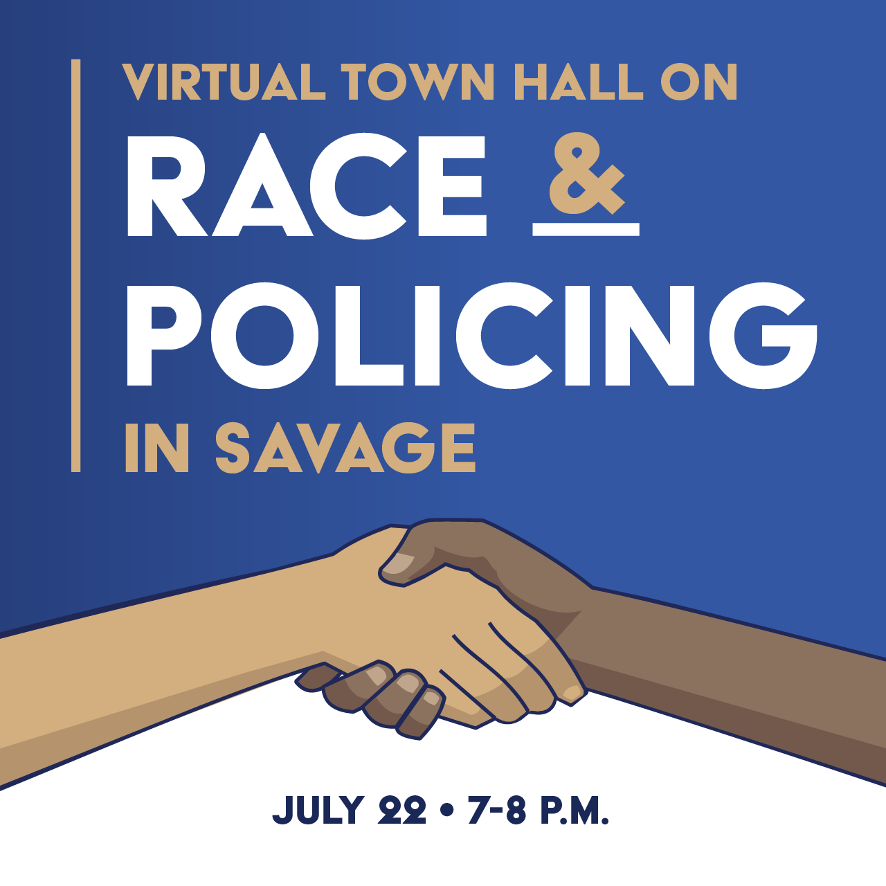 Watch the Virtual Town Hall on Race & Policing in Savage